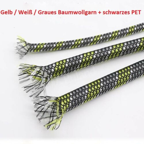 4//8//12mm PET/&PP Baumwollgarn Gemischte Geflochtene Geflechtschlauch//Ummantelung
