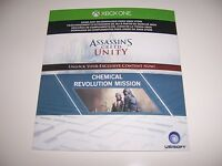 Assassin's Creed Unity Xbox One Dlc Code Only-chemical Mission -no Game Included