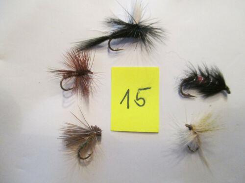 Fliegen zum Fliegenfischen    5 Stück verschiedene     NEU