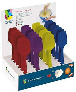 Kitchen-Craft-Colourworks-20cm-Small-Flexible-Silicone-Spoons-Bowl-Scrapers