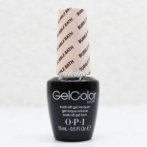 OPI GelColor LED Gel Nail Polish Pale Pink Color 0.5 fl oz Bubble ...
