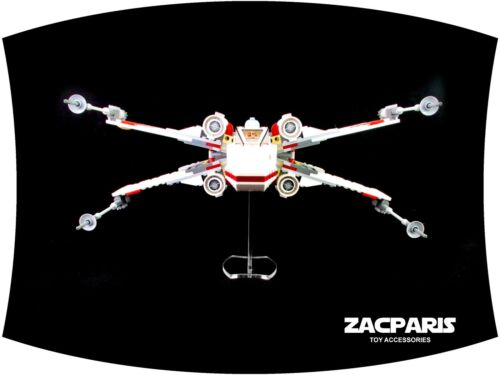 DISPLAY STAND for Lego 9493 75102 75149  X-Wing Starfighter Clear acrylic!