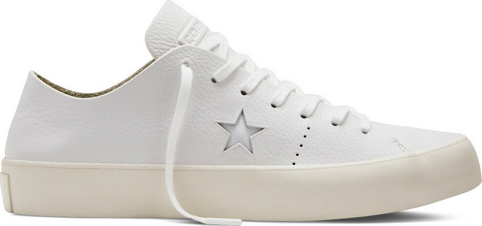 CONVERSE CONS ONE STAR PRIME OX WHITE LEATHER LOW SHOES SZ 12 Uomo 154839C