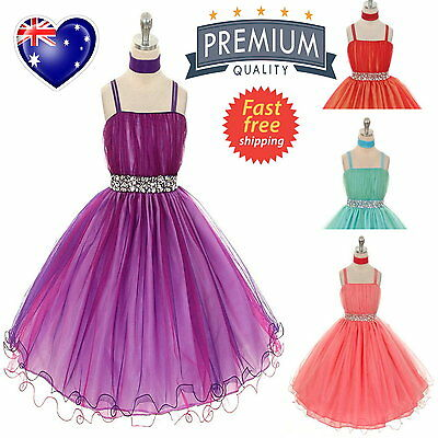 2Tone Tulle Special Occasion Girls Dress Flower Girl Dress Pageant Party Dress