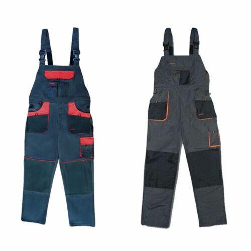 Mens Heavy Work Wear Pantalon de combat Holster Workwear Bib and Brace