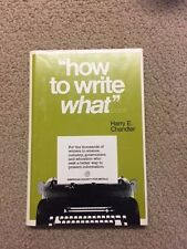 """The """"how to write what"""" book: For the thousands of writers in science,..HC- 89p"""