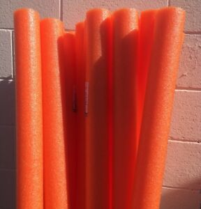 Lot-8x-Orange-Noodles-Swimming-Pool-Noodle-therapy-water-floating-foam-craft