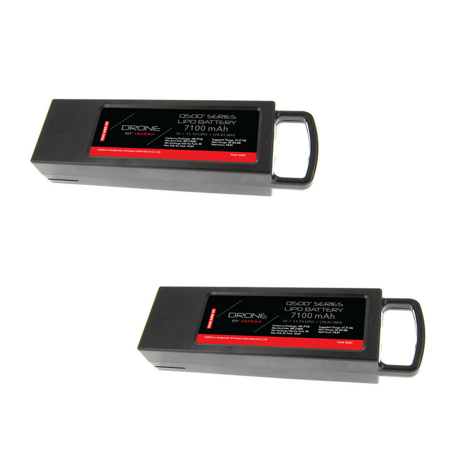 Yuneec Q500 3S 7100mAh 11.1V Radio Control Series Drone Lipo Batería por Venom x2 Packs