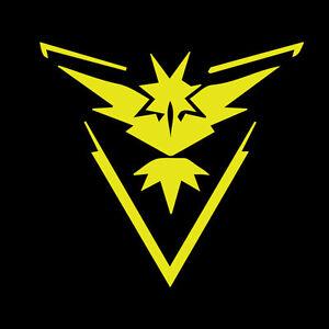 Pokemon Go Decal Gym Team Instinct Emblem Decal Pokemon
