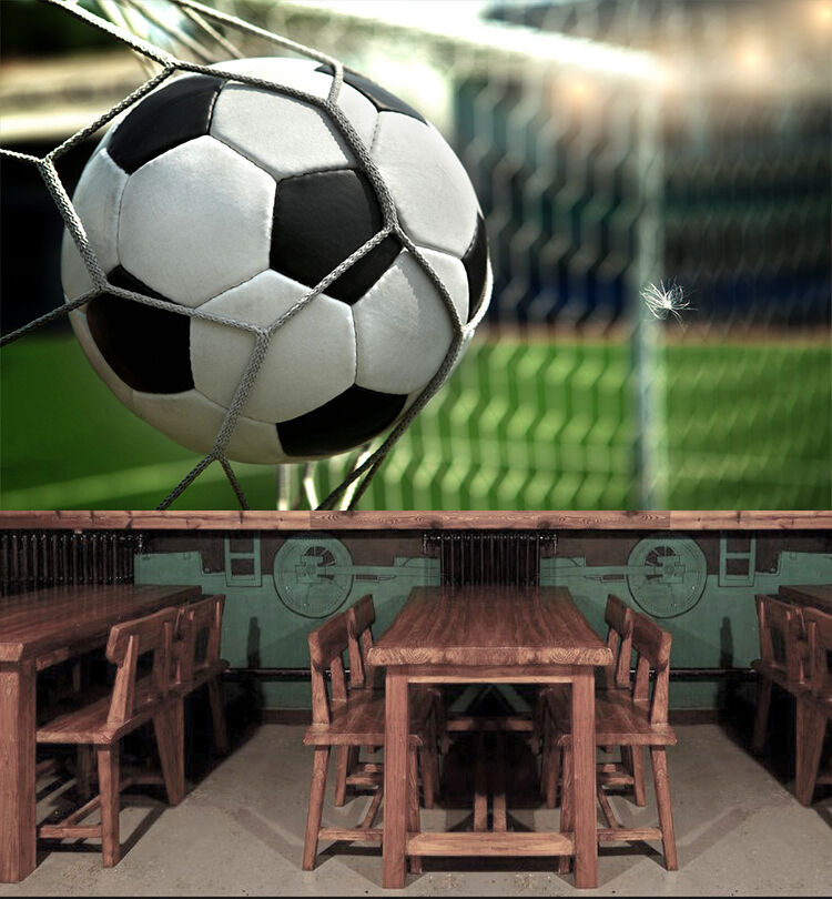 3D Football match Wall Paper Wall Print Decal Wall Deco Indoor Wall Murals
