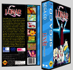 Details about Lunar Eternal Blue - Sega CD Reproduction Art DVD Case No Game