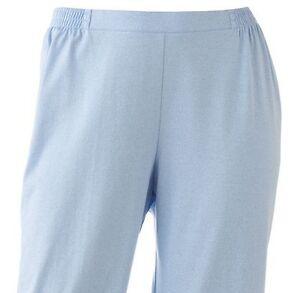 5da6536677f Details about Cathy Daniels Womens Plus Pull-On Solid Blue Capris Pants 2X  3X
