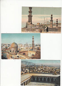 Postcards-group-of-27-Cairo-Egypt-showing-mosques-buildings-marketplaces-etc