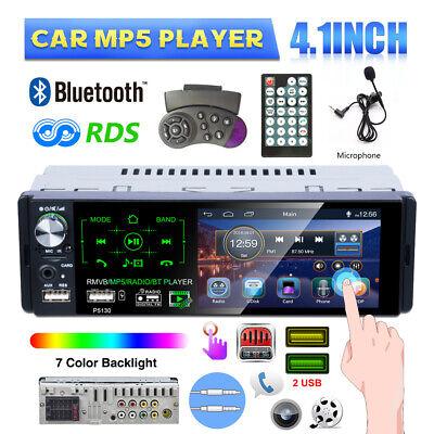 Autoradio mit Bluetooth 4.1 Zoll MP5 Stereo 1 DIN 2 USB AUX TF Rückfahrkamera