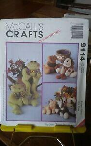 Oop-Mccalls-Crafts-9114-Cynthia-Rose-bean-bag-pal-dog-cat-frog-NEW