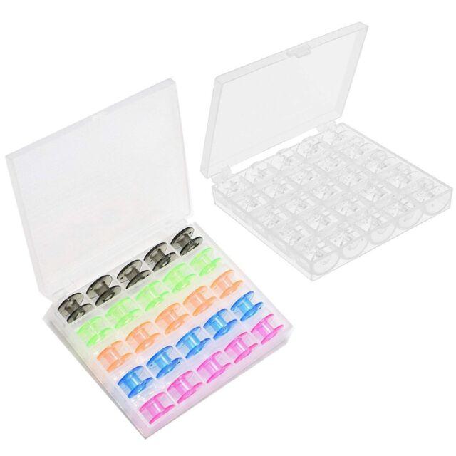 Bobbin Box With 25 Empty Bobbins for Janome Sewing Machine Bobbin Case Spool PB
