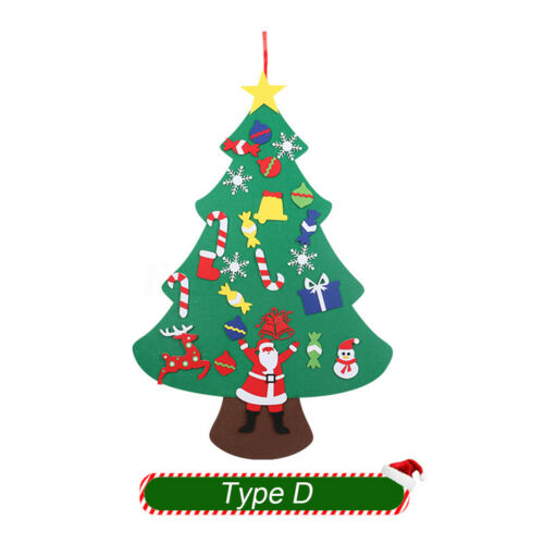Felt Christmas Tree Set Hanging with Ornaments for Kids Xmas Gifts New Year DIY