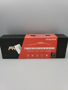 "TOGUARD Backup Camera 7/"" Mirror Dash Cam Touch Screen HD1080P Rearview Dual Lens"
