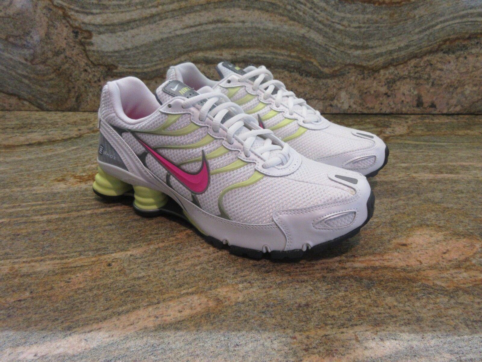 2008 WMNS Nike Shox Turbo+ VI 6 SZ 9.5 blanc Cherry Lime Cool gris 318164-163