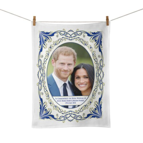 50cm x 34cm Royal Wedding of HRH Prince Harry /& Meghan Commemorative Tea Towel