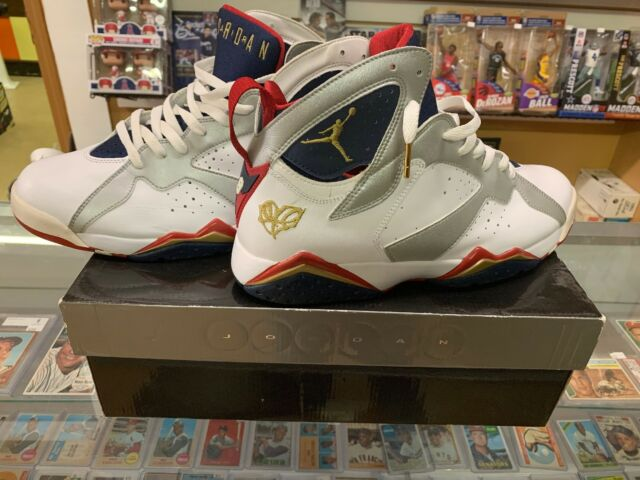 350e7f19b9b877 Nike Air Jordan 7 VII Olympic 2010 FTLOTG For The Love Of The Game Size US