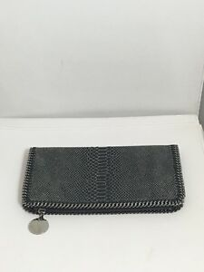 eb81c1cd6974 Image is loading Stella-McCartney-Grey-printed-faux-leather-Clutch-Bag