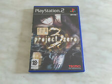 PS2 Project Zero 3 the tormented PAL ITA perfetto PlayStation 2 NO rule of rose