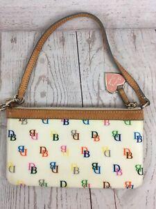 Db Logo Wristlet Wallet Purse Bag Zip