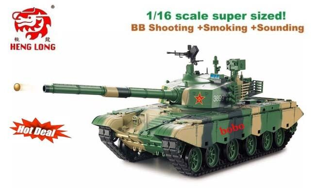 Heng long 1 16 BB shooting Smoking Sounding  ZTZ 99A MBT RC Airsoft Battle Tank