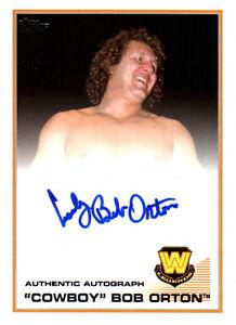WWE-Cowboy-Bob-Orton-2013-Topps-Triple-Threat-Authentic-Autograph-Card-WWF-HOF