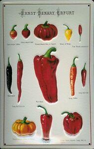 Ernst-Benary-Tomate-2-Pancarte-en-Tole-Signe-Metal-3D-Relief-Panneau-Etain-20-X