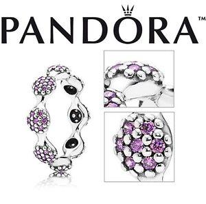Pandora-Purple-Pave-8-Eight-Pod-Ring-Love-Pods-Cz-Silver-Brand-NEW-50