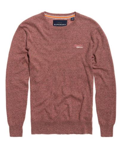 Camicia uomo Superdry Orange Label Crew maglione Foschia Rosa Sabbia Taglie S-XXXL