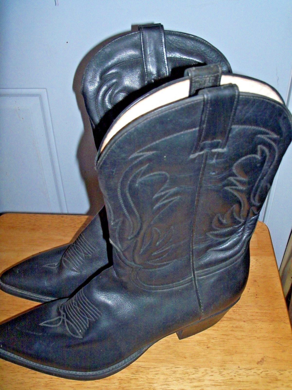 Occidental de cuero botas de Vaquero  Cuevas de hombre talla 11 EE. UU. Nuevo Negro Hecho En México  100% precio garantizado