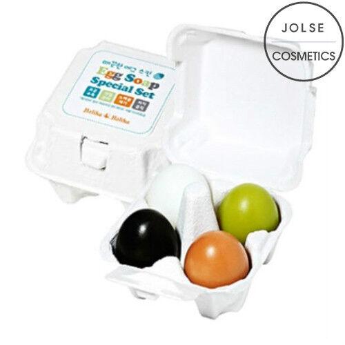 [Holika Holika] Egg Soap SPECIAL SET 50g*4ea GREEN/RED/CHARCOAL/WHITE each kinds