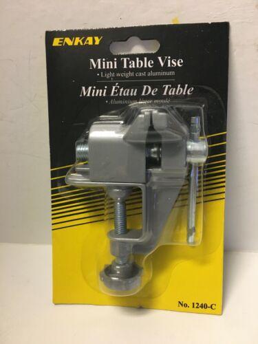 "Enkay  1 1//2"" Opening Mini Table Vise Hobby Craft Tools Aluminum Clamp On"