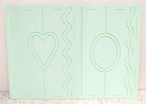 Keepsake Card Craft embossing board Embellisher heart Valentine gate fold cards
