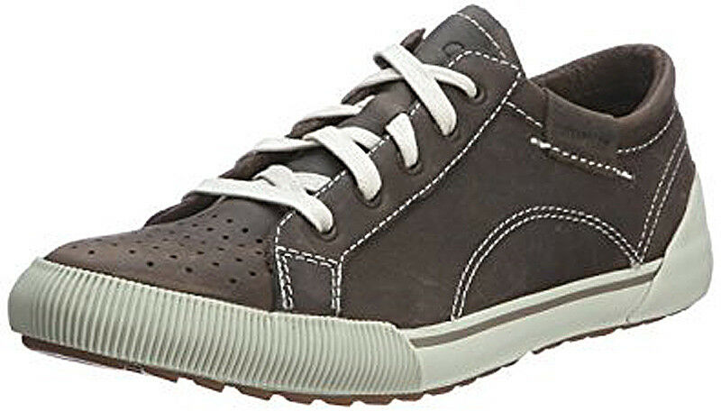 Caterpillar CAT Regan Up Oxford Soft Grau Damenschuhe Casual Lace Up Regan Leder Trainers 516794