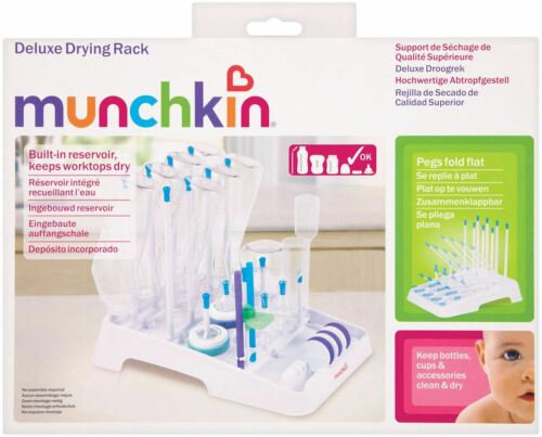 Munchkin DELUXE BOTTLE DRYING RACK Baby//Toddler//Child Kitchen Accessory BN