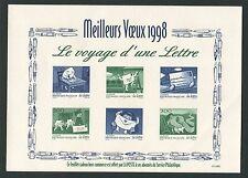 """FRANCE EPREUVE DE LUXE 1998 LUXUSBLOCK """"LE VOYAGE D`UNE LETTRE"""" z1216"""