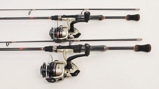 2 Quantum Vibe Spin Fishing Reels, 6.5 Ft (environ 1.98 m) IM6 Graphite RODS New