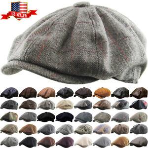 Adult Wool Blend CHARCOAL GREY Ivy Ascot Cabbie Cap