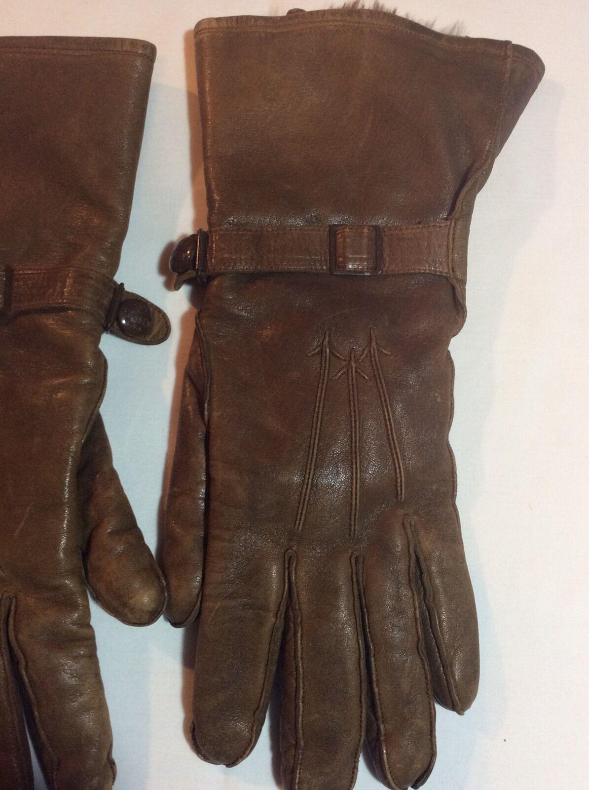 Vintage Hansen Ladies Leather Gauntlet Gloves - image 4