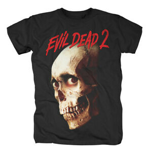 EVIL-DEAD-2-Studiocanal-Skull-T-Shirt