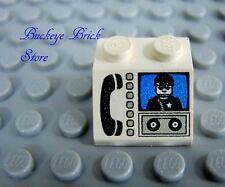 LEGO 2x2 SLOPE Decorated Police Jail Phone 566 6398 6332 6479 6571 6598 4611