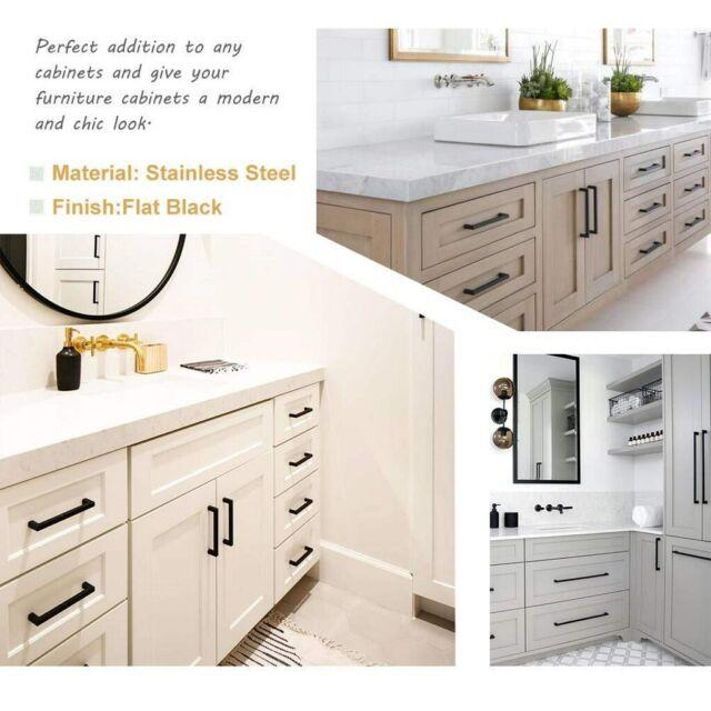 10pcs Modern Furniture Cabinet Knobs Kitchen Cupboard Drawer Door Pull Handles