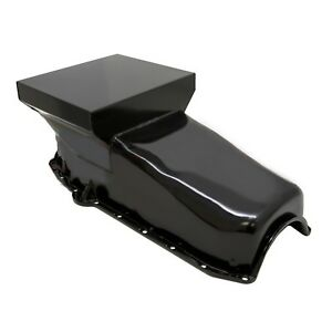 Black-Drag-Race-Style-7qt-Oil-Pan-1958-79-SBC-327-350-400-Small-Block-Chevy