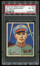 1933-34 National Chicle Sky Birds #16 Lt. Immelmann (48) PSA 6 EX-MT #22485700