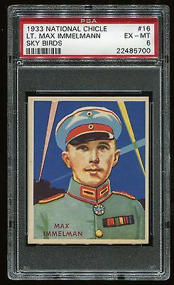 1933-34 National Chicle Sky Birds #16 Lt. Immelmann (48) PSA 6 EX-MT #22485700