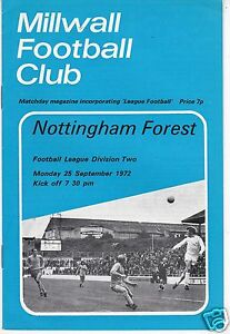 MILLWALL V NOTTINGHAM FOREST  DIVISION TWO 25972 COMPLETE WITH LEAGUE FOOTBALL - Bromley, United Kingdom - MILLWALL V NOTTINGHAM FOREST  DIVISION TWO 25972 COMPLETE WITH LEAGUE FOOTBALL - Bromley, United Kingdom